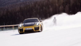 GP Ice Race Days of Thunder NASCAR Race car and KTM X bow on ice and snow at Zell am See