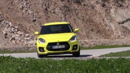 Suzuki Swift Sport on the track