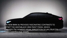 New BMW X6 as a spectacular show car world s first vehicle in Vantablack วันที่ 7 กันยายน 2562