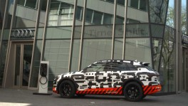The Audi etron prototype in a Faraday cage