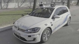Autonomous driving with the Volkswagen e Golf วันที่ 11 พฤศจิกายน 2562