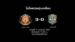 Hilight 17-1-18 Sisaket FC3-0Surin City 21 มี.ค. 2561