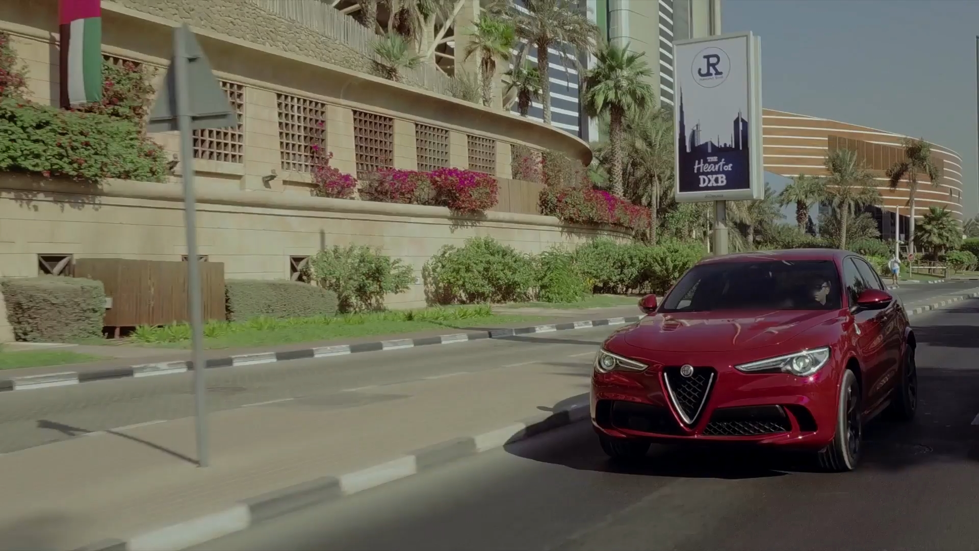 Alfa Romeo Stelvio Q in Dubai Driving in city