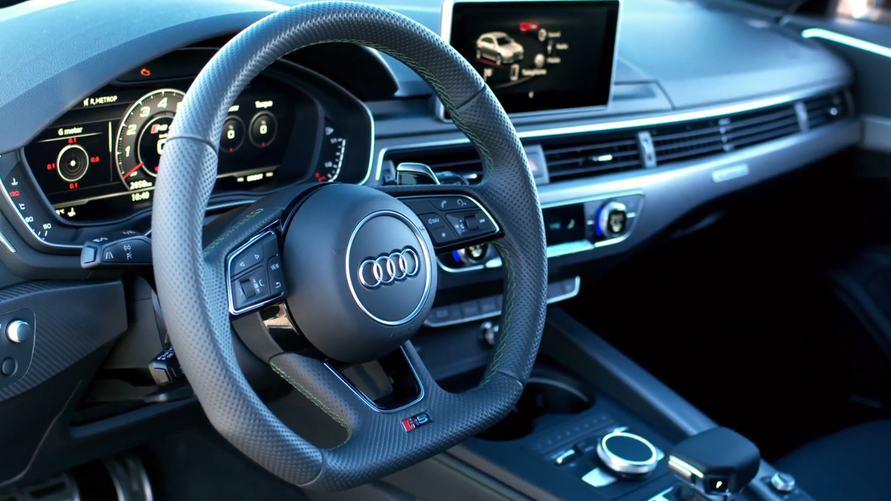 Audi RS4 Green Interior Design