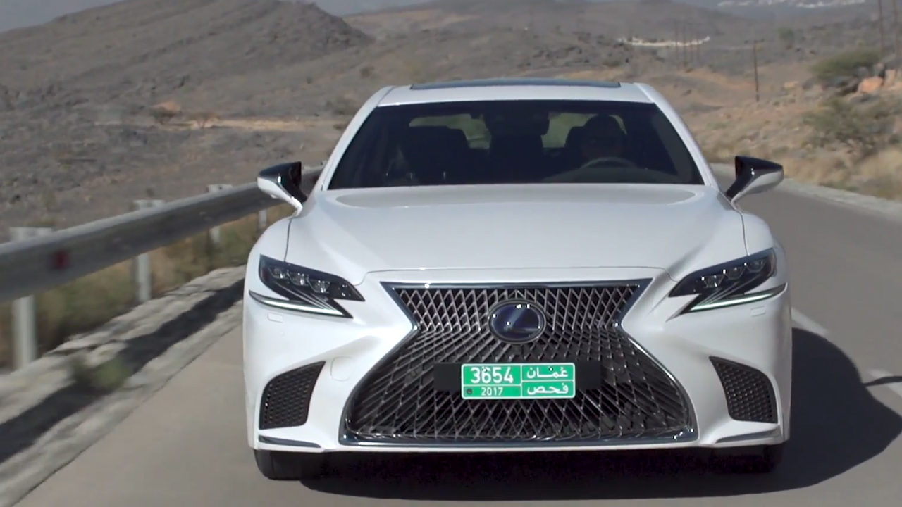 LEXUS LS 500h in White Driving