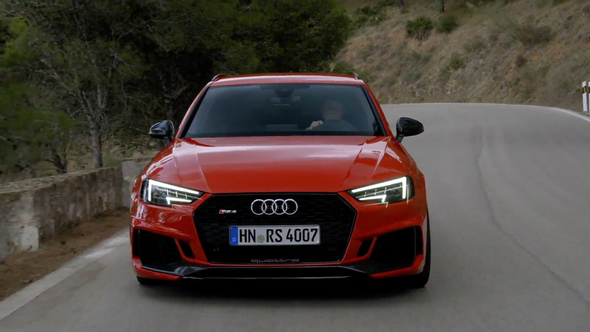 Audi RS 4 Misano Red Driving Video