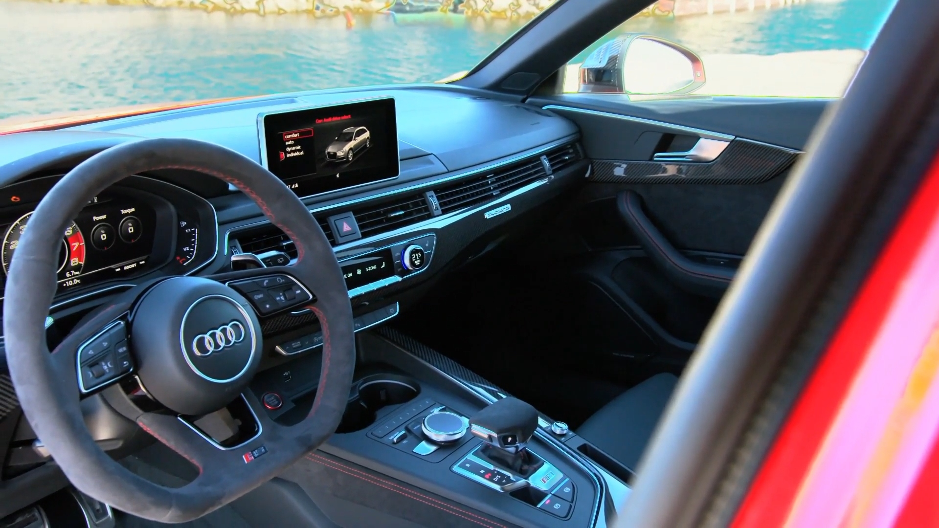 Audi RS 4 Misano Red Interior Design