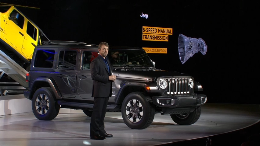 Reveal of 2018 Jeep Wrangler at LA Auto Show en