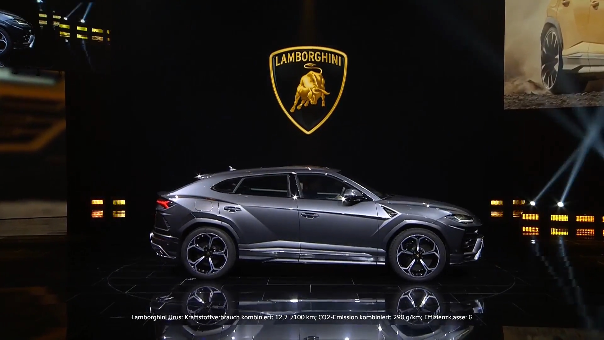 The new Lamborghini Urus premiere on the eve of Auto China 2018 en