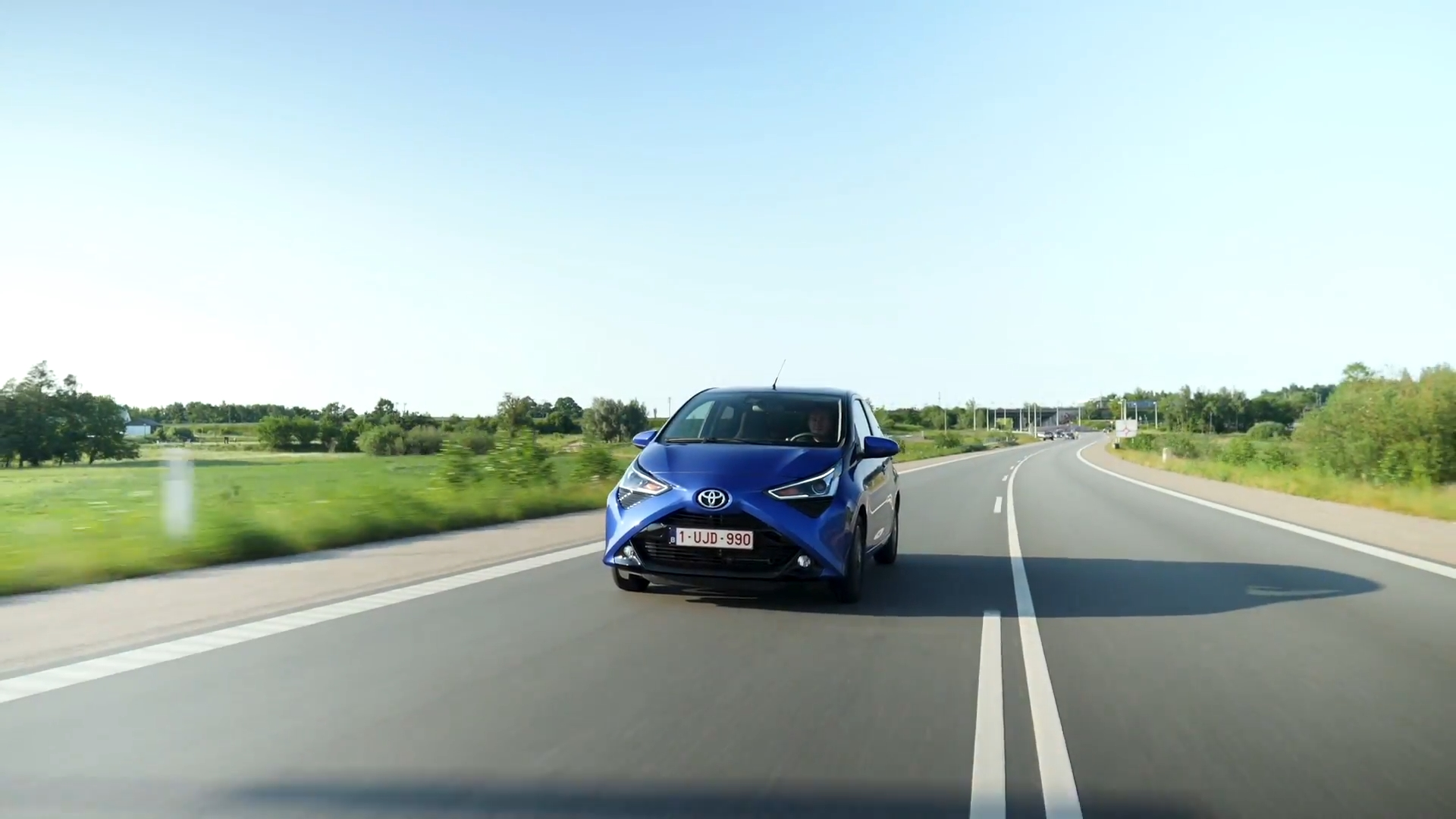 Toyota Aygo in Blue Driving Video