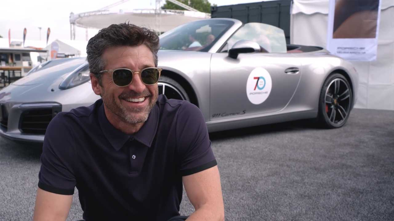 Patrick Dempsey at the Sportscar Together Day