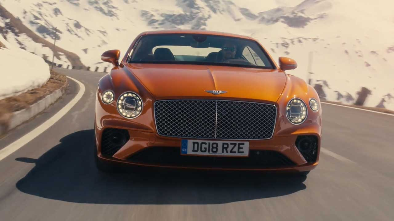 The new Bentley Continental GT in Orange Flame